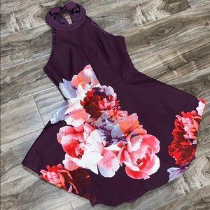 Keepsake (Nasty Gal) Purple / Floral Elegant Dress